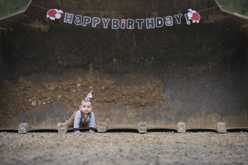 Geburtstags-Shooting mit Baumaschinen