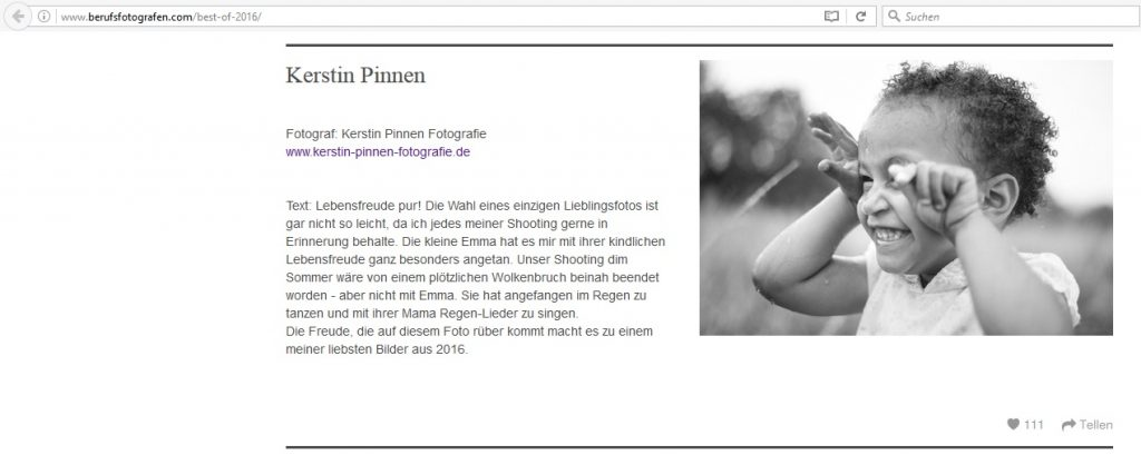 Veröffentlichung Berufsfotografen.de